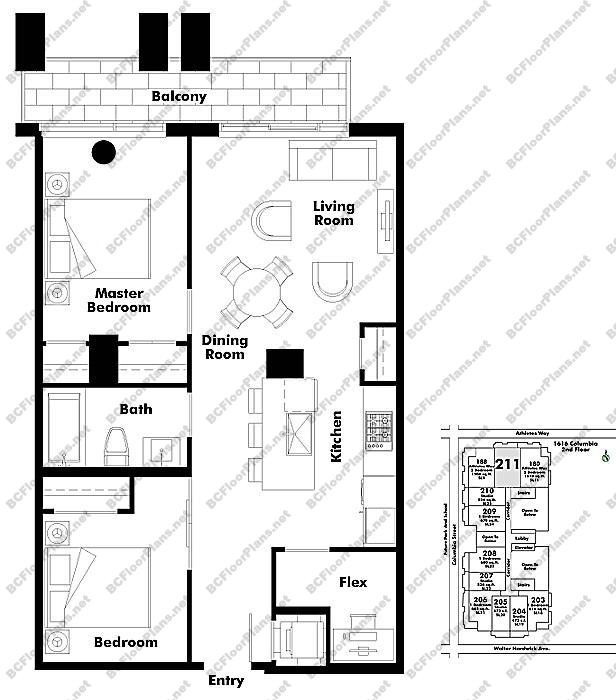 Floor Plan 211 1616 Columbia